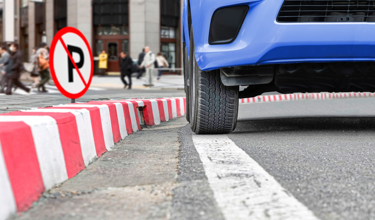 Prohibition of designing temporary parking for cars on sidewalks